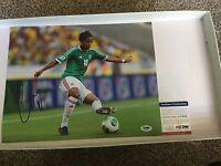 Mexico Giovani Gio Dos Santos Signed 11x14 Photo PSA DNA COA Autographed d