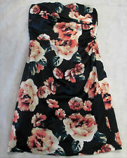TARGET FLORAL STRAPLESS Dress Size 10 S Women's NEW