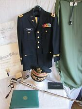 WWII-Korea-Vietnam US Uniform+M1902 Sword+Military Career Paperwork-Id'd Shafer