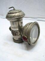 Antique Hine-Watt Columbia Automatic Carbide Bicycle Lamp/Lantern 1900 Patent