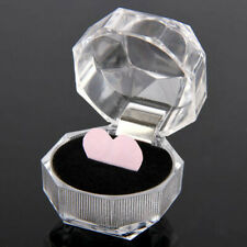 20pcs Plastic Clear Crystal Jewelry Ring Display Storage Boxes Accessories Clear