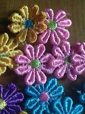 Lot of 25 color assortment Flower embroidery Aplique motif trim patch sewing cs
