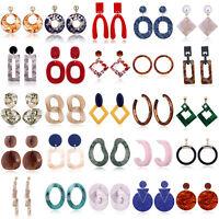 Hot Fashion Women Jewelry Elegant Acrylic Hoop Earrings Ear Stud Dangle Earring