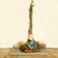 Vase molten glass on wood - handmade