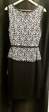 NWT Elegant Queenspark Lace ponte B&W Special Occasion dress RRP $249.95– Sz 20