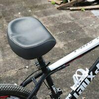 Big Ass Bike Saddle Wide Large Bike Cycling Noseless MTB Soft PVC PU Seat Black