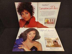 Vtg 1987 Black Americana Makeup Ad 8x10 Ebony Fashion Fair Poster Art 4pg Lot A