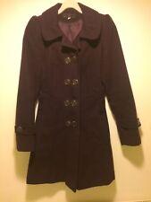 New Look - Purple A Line military style pea coat - UK 8
