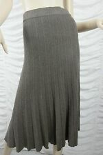 REGATTA brown cappuccino sunray pleated cotton blend long skirt size 14 BNWT