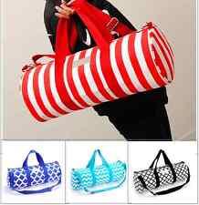 Waterproof Canvas Sports Gym Duffle Carry Shoulder Bag & Strap Travel Bag Large