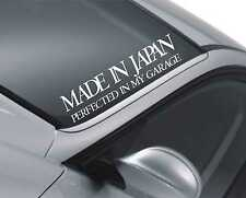 Made in Japan Windscreen Sticker Car Decal Vehicle Front Window Rear m126