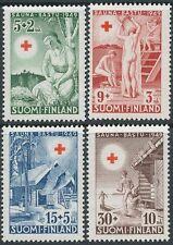 Finland 1949 MNH Red Cross - Erotic Finnish Sauna - Scott B94-97