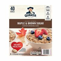 (ONE BOX) QUAKER OATS INSTANT OATMEAL MAPLE BROWN SUGAR ((LOW STOCK))