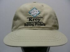 KROY BUILDING PRODUCTS - ONE SIZE FITS ALL ADJUSTABLE STRAPBACK BALL CAP HAT