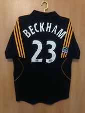 LOS ANGELES GALAXY 2007/2008 AWAY FOOTBALL SHIRT JERSEY DAVID BECKHAM #23