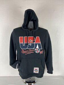 USA Dream Team Basketball Mitchell & Ness Black Hoodie Men's Size M