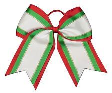 "NEW ""Christmas Glitz"" Cheer Bow Pony Tail 3"" Ribbon Girls Bows Cheerleading"