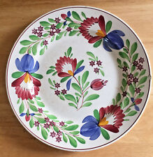 Villeroy and Boch Plate Wallerfangen Germany Floral Sponge Ware Stick Spatter