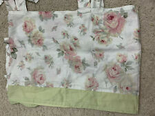 Green Pink Roses Floral Bedding Sets Window Valance Curtain