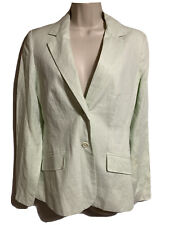 SPRING/SUMMER Linen Blazer Women UK 10 Women Fitted Jacket Tailored Mint Pastel