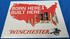 """(1) OFFICIAL Winchester """"Born Here Built Here"""" Decal Sticker SUV Car Shot Show"""
