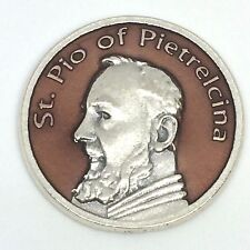 Padre Pio Medal Pocket Prayer Token Pray Hope And Don't Worry