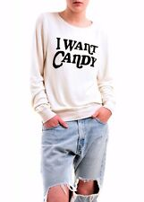 Wildfox Women's Trick Or Treat Candy Sweatshirt Vintage Lace M RRP £105 BCF76