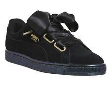 ladies black puma sneakers