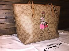 COACH F57617 Signature Bonnie Cashin Limited Edition Tote Bag Khaki Saddle