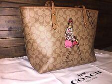 COACH F57617 Signature Bonnie Cashin Limited Edition Tote Bag Khaki Saddle