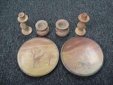 Early Disney Animal Kingdom Heavy Clay 2 Plate 2 Candlestick 2 Cup Set (Pretty)