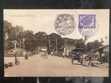 1913 Netherlands Indies RPPC Postcard Cover to Antwerp Belgium rubber tree