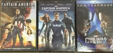 Captain America 3-Movie Collection Trilogy Complete Set 1 2 & 3  (DVD)..NEW!