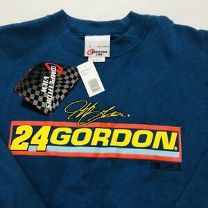 Vintage Jeff Gordon Mens Large Sweatshirt Pullover Chase NASCAR Blue NEW USA
