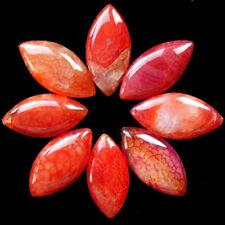 8Pcs Orange Dragon veins agate CAB CABOCHON(Send Randomly)N9220