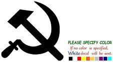 """Communist Sickle Hammer Funny Vinyl Decal Sticker Car Window laptop netbook 6"""""""
