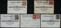 s2183) Flugpost Trans-Polar Flight Expedition 1924 North Pole Mail 5 Belege