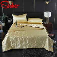 Ice Silk Bed Sheet Summer Air Conditioning Blanket Soild Color Breathable