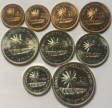 1977 Cocos Islands 5 Cents - 25 Rupees 9 Coins Set
