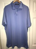 Mens Size XL RLX by Ralph Lauren Solid Blue Rugby Polo Shirt C26