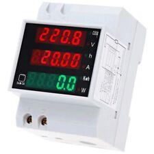 ATEC - Voltmetro Multifunzione LED AC80-300V / 0-100A per DIN-RAIL (D52-2047)