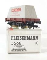 FLEISCHMANN 5568 K, HO GAUGE - GERMAN DB TRACK CLEANING WAGON - NEM COUPLINGS