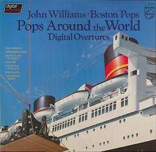 JOHN WILLIAMS BOSTON POPS AROUND THE WORLD OVERTURES PHILIPS 6514 186 LP PROMO