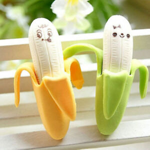 New Kawaii Korean Stationery Stationary Banana Rubber Pencil Gift Eraser