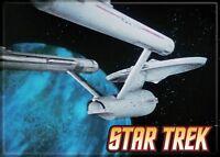 Star Trek -  Photo Quality Magnet: Enterprise on Blue