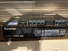 Focusrite Saffire Pro 26 Audio Interface Firewire Thunderbolt Soundkarte