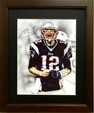 Nice Framed Tom Brady Color  Photo (New England Patriots- NFL Football )