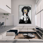 Woman With Hat Graffiti Artwork Canvas Painting Wall Art Print Picture Decor