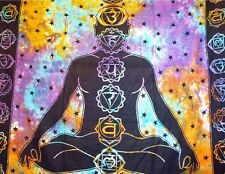 Grande indio para colgar de la pared Meditación Buda Tapestry Chakra TIRO