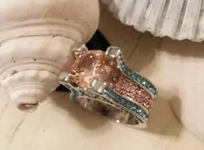 💖HOT! Cotton Candy Pink Princess Cut Bling Ring Size 7 *Now 67% Off Special!💖